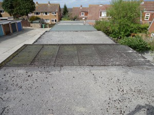 Renovation of a garage flat roof