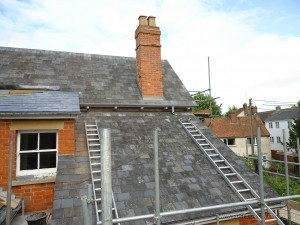 100 plus years old roof in natural slate completely renovated