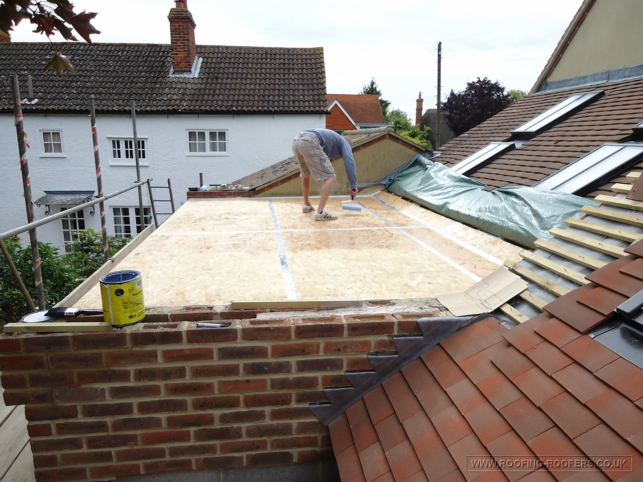 New Extension Roof At Denchworth Wantage Oxfordshire