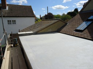 The completed Sealoflex flat roof system