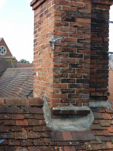Repair and restoration of the chimney fabrics and weatherproofing