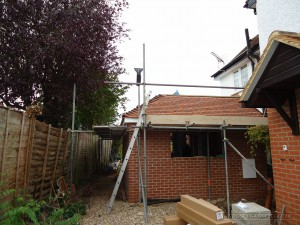 Tiled roof , leadwork and flat roof elevations weatherproofed