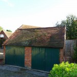 Grade II listed outbuilding waiting for roof tile renovations