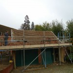 Grade II listed outbuilding roof tile renovations work in progress