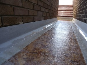 GRP with chopped glass strand being cured
