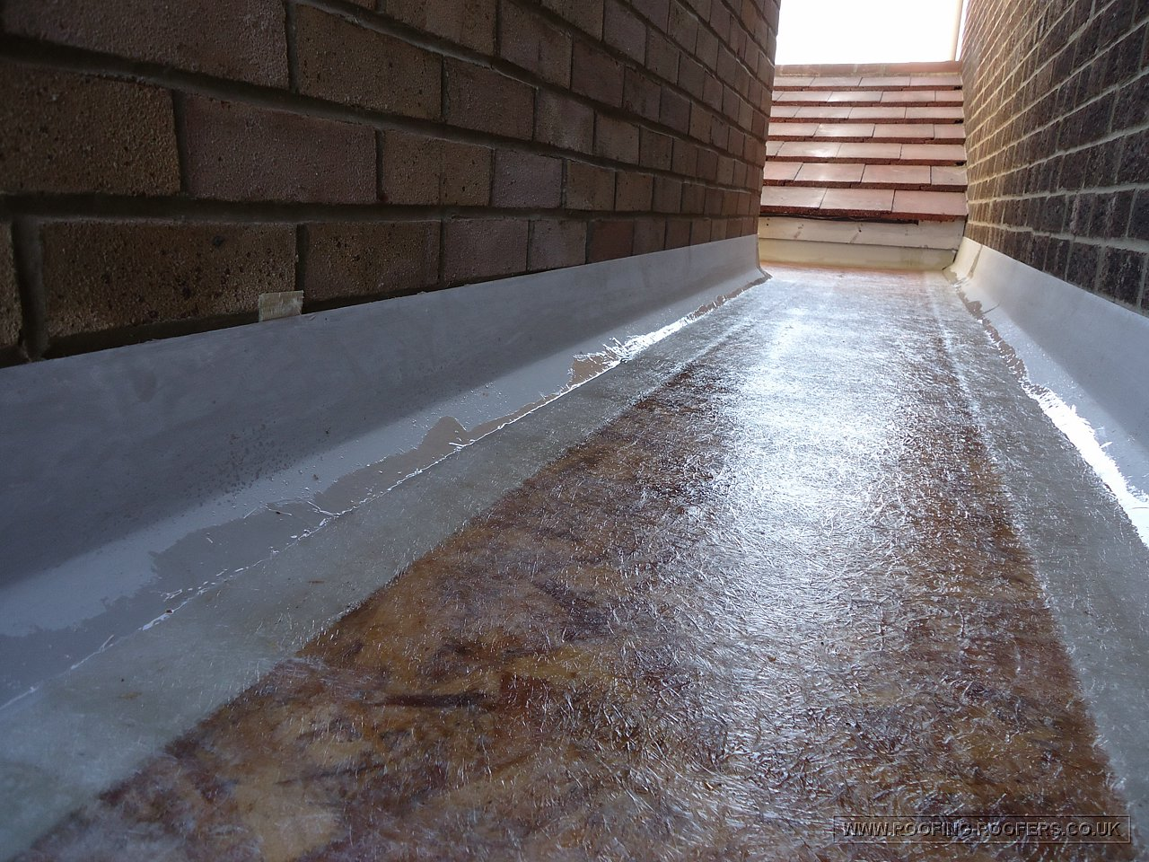 Grp Fibre Glass Applied New Flat Roof Extension Abingdon