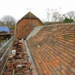 Grade II listed building roof tiling renovations in progress