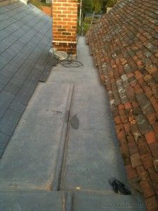 Weatherproofing lead work for rainwater protection