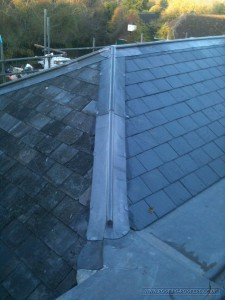 Traditional leadwork to protect and weatherproof the roof hips