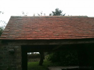 Tiled re-roof rear view of finished work