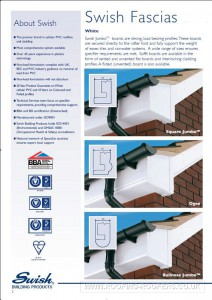 Swish UPVC products for fascia and sofit boards