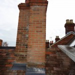 Chimney repairs to include views of new lead work and pointing to brickwork