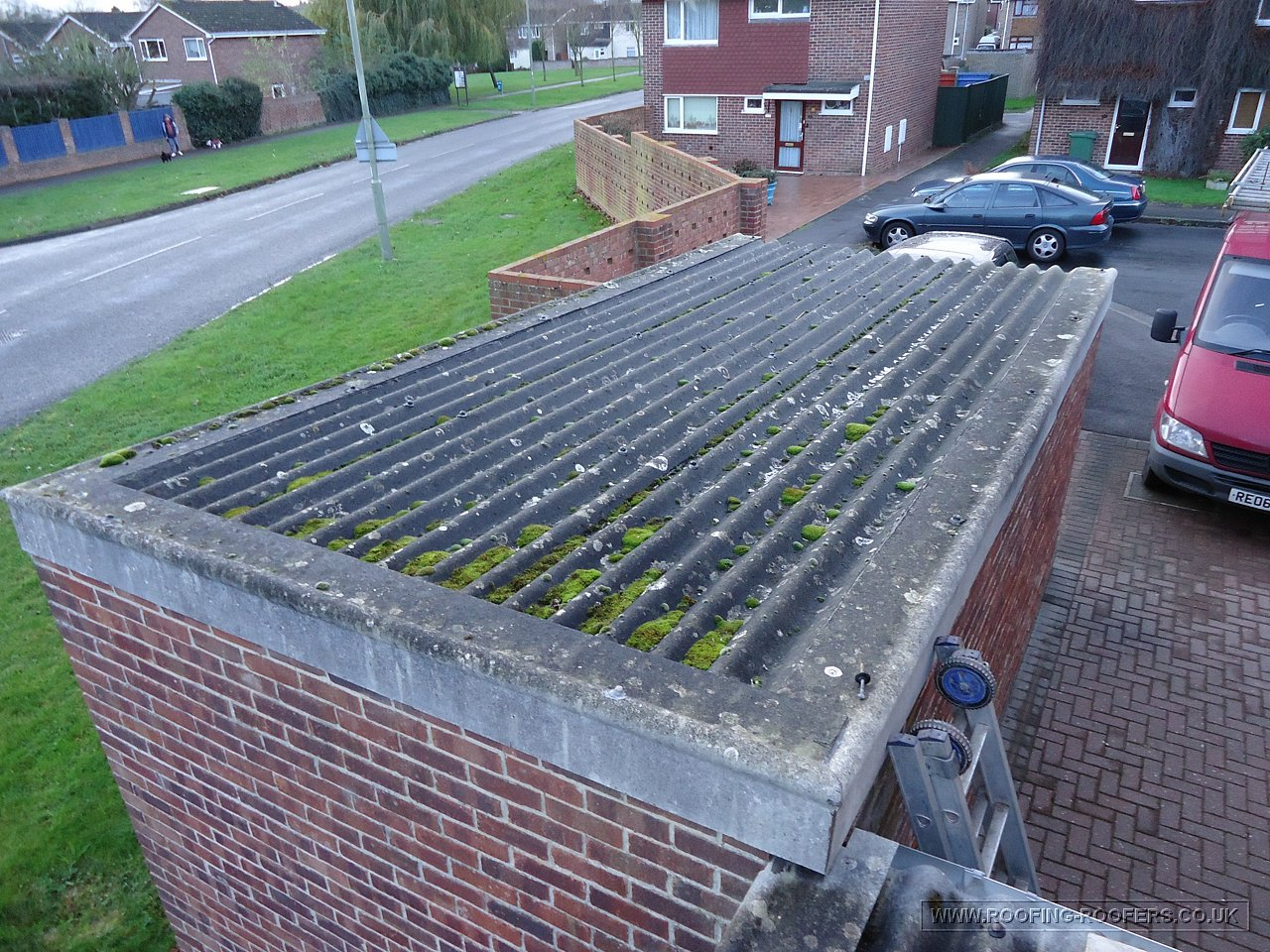 Metal Flat Roof Replacement And Re Pointing Work Grove