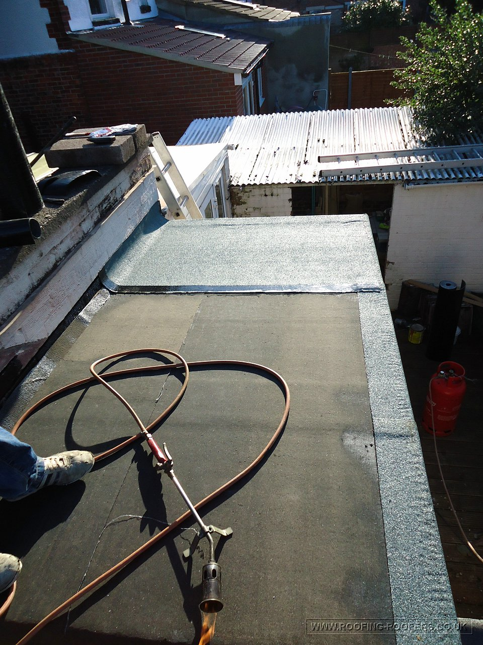 Flat Roof Using Marley Sbs Torch On Felt System To Small
