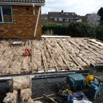 Insulation completed ready to start new roofing substrate installation