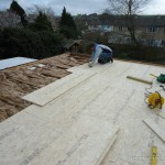 More substantial board materials used ready for the GRP system to be applied