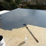 GRP laminate getting it's final coating