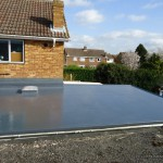 The finished roof using the GRP glass reinforced Scott Bader system
