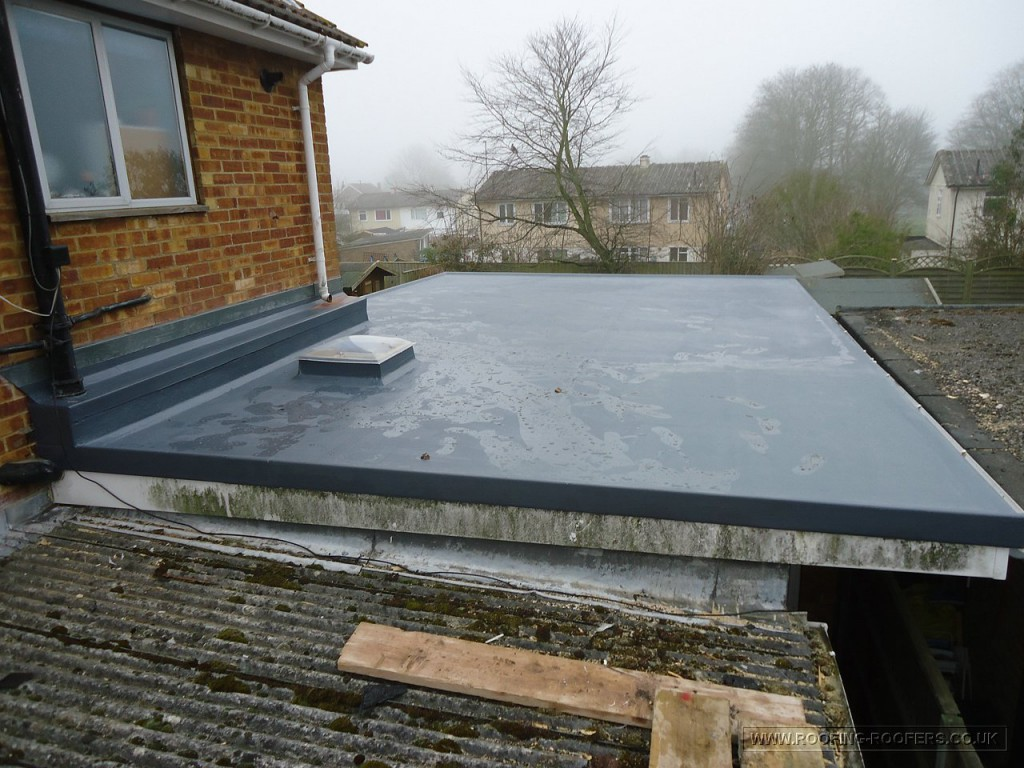 Flashing Glass Panel In Slate Roof