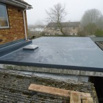 Scott Bader GRP roofing system complete finished view of the extension flat roof