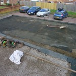 Old mineral felt garage roof in the Wantage area leaking badly